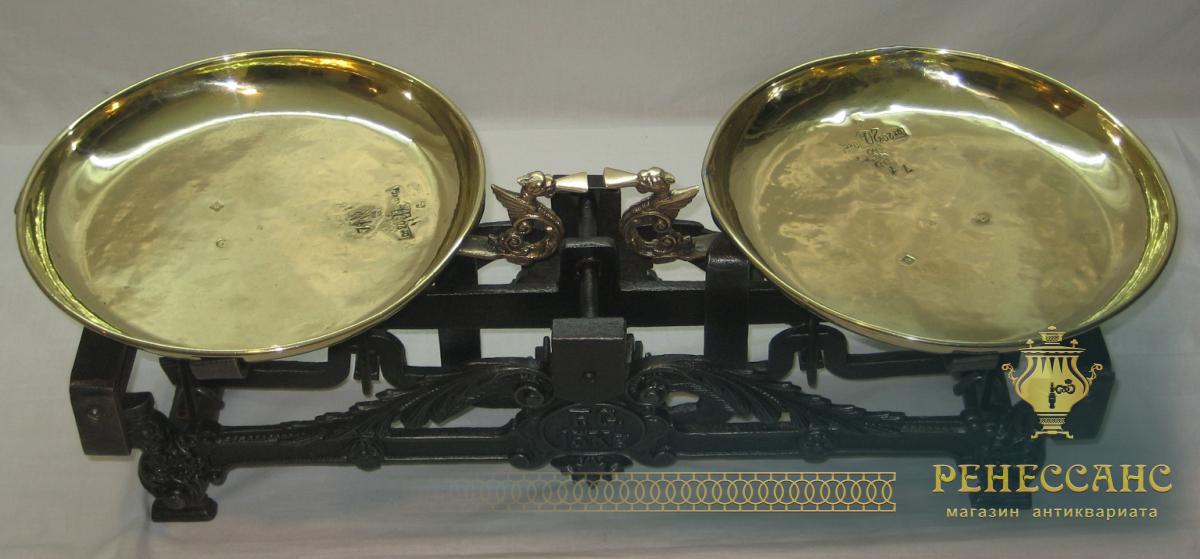 Весы с двумя чашами на 15 кг, Россия начало 20 века №1749