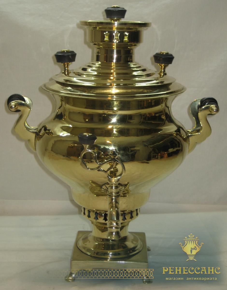 Самовар старинный «репка» на 3,3 литра, «Н.А. Воронцов» 19 век №542