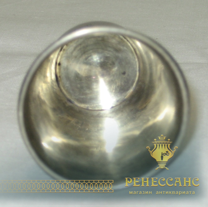 Стопка серебряная, штихельный орнамент, 84 проба, 1889 год №1798