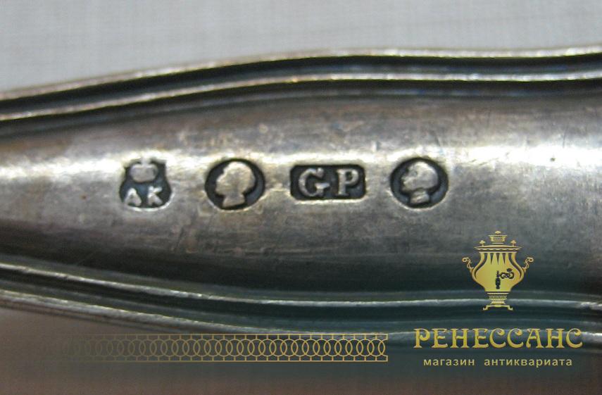 Ситечко старинное, серебрение, «А. Кач» С-Пб 19 век №1805