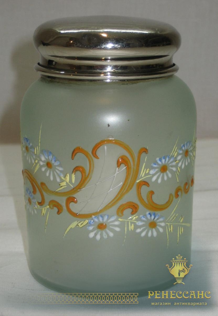 Чайница, банка для чая, модерн, эмалевые краски №1822