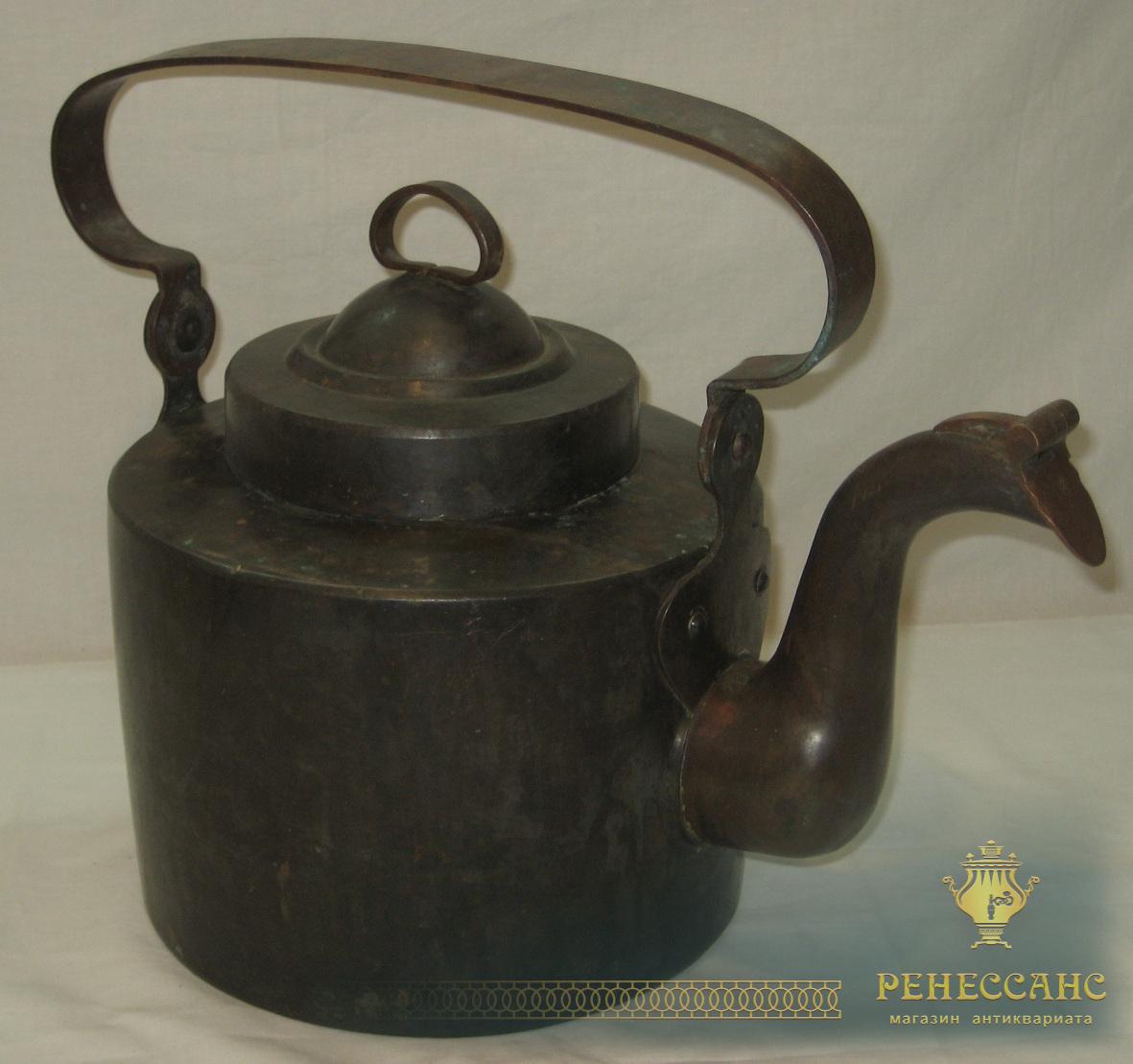 Чайник большой медный, на 7,5 литров, Россия 19 век №1878