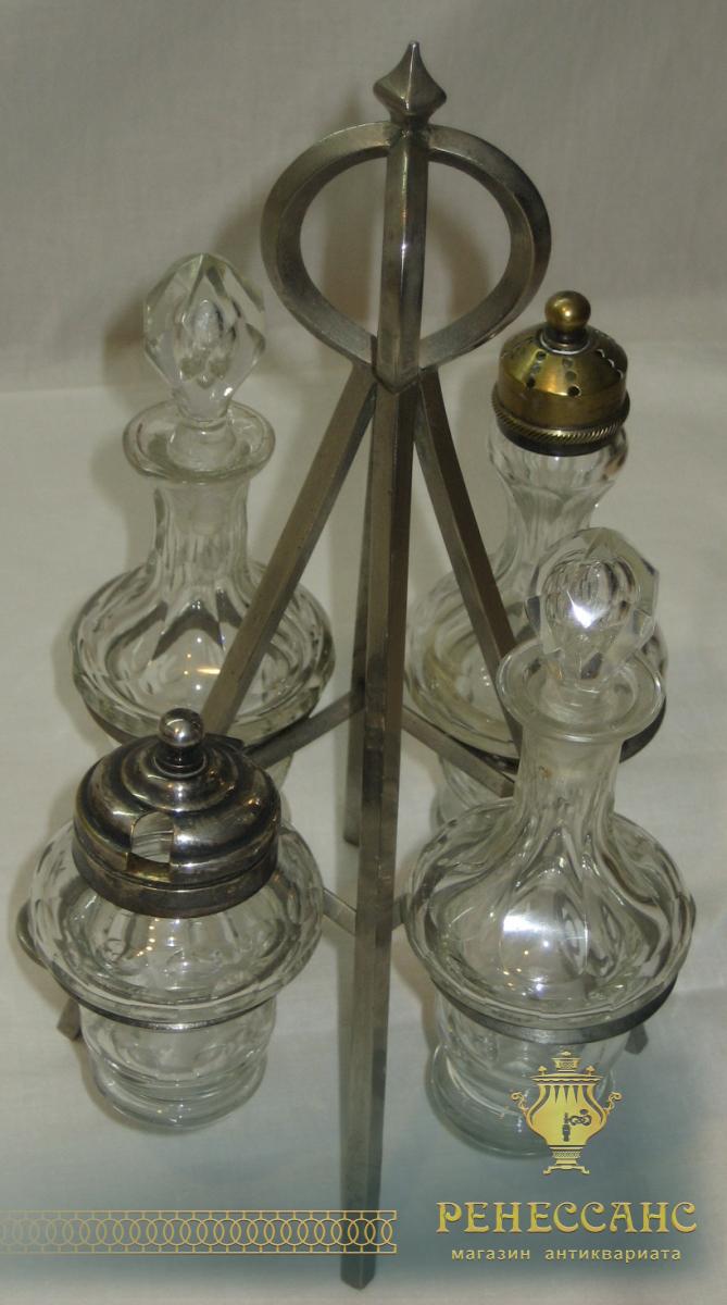 Набор для специй старинный, серебрение, Европа 19 век №1906