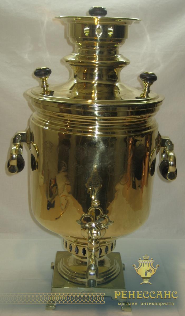 Самовар угольный «банка» на 8,5 литров, с медалями, «И.Ф. Капырзина» №564