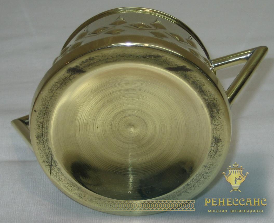 Сахарница старинная, латунь, в стиле «Ар-деко» №1910
