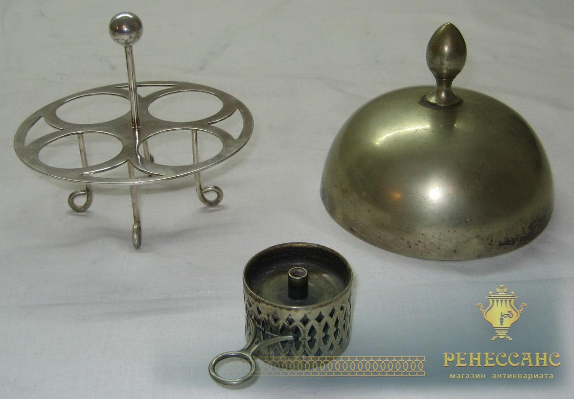 Яйцеварка старинная из мельхиора Европа 19 век №1196