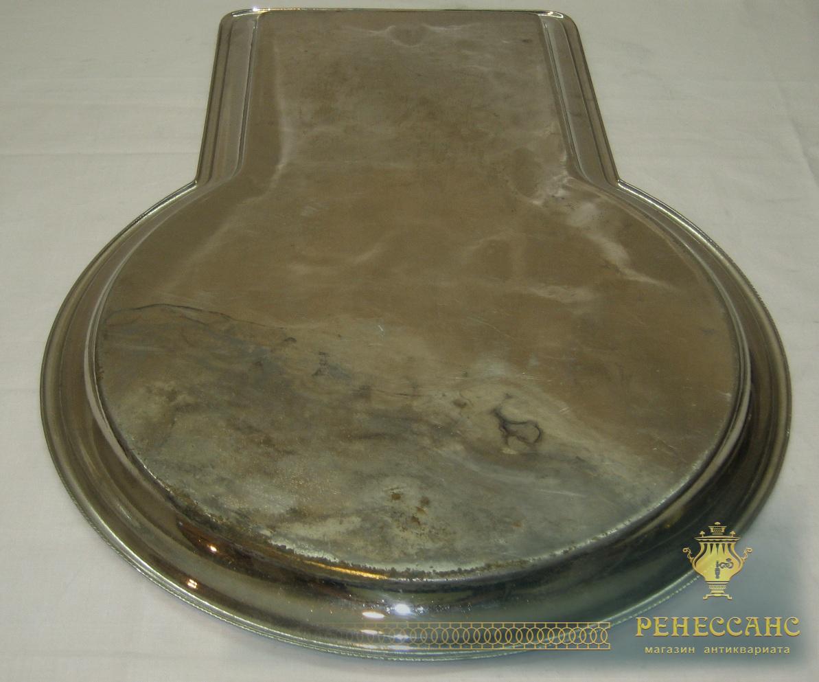 Поднос под самовар «замочная скважина», никелировка, «ТПЗ» 1920-е годы №1969