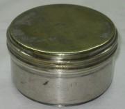 Баночка, чайница серебрение А. Кач 19 век №1253