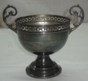 Конфетница, вазочка серебрение Европа 19 век №1075