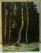 Картина «Зимний лес» 1991 года №955