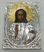Икона «Господь Вседержитель» серебрение Россия 19 век №930