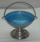 Конфетница, вазочка, серебрение родное стекло А. Кач №1285