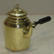 Кофейник старинный, заварочный чайник на ножках, латунь, 20 век №2014