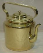 Чайник старинный, латунь, на 7,5 литров, «Тула 1950 год» №2017