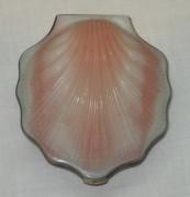 Пудреница старинная «ракушка», серебро 875 пробы, позолота, СССР №2020