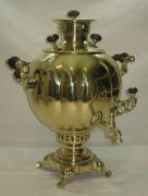Самовар старинный «шар гранный», на 6,5 литров, Россия 1920-е годы №597