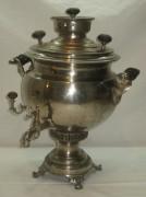 Самовар угольный «ваза», на 5 литров, никелировка, «Н.А. Воронцова» №609