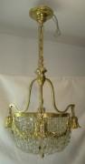 Люстра старинная хрустальная, на 4 лампы, Россия 19 век №2068
