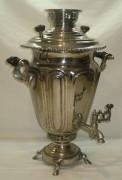 Самовар старинный «рюмка», никелировка, на 5,5 литров, «Бр. Воронцовыхъ» 19-20 век №618
