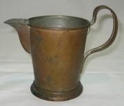 Кружка старинная, латунная, 19-20 век №2079