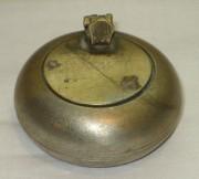 Чернильница старинная, никелировка, 19-20 век №2078
