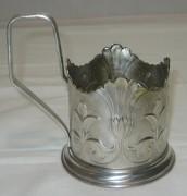 Подстаканник «лилия», серебрение, СССР №2131