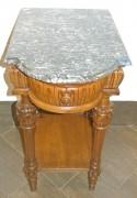 Стол самоварный старинный, дуб, мрамор, Россия 19 век №2144