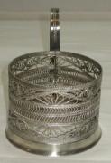 Подстаканник старинный скань, серебрение, СССР №2153