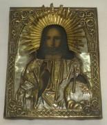 Икона «Господь Вседержитель», серебрение, 19 век №2227