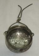 Ситечко старинное, серебрение, «Schiffers» Варшава 19 век №2241
