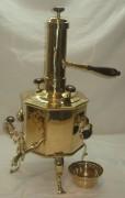 Самовар «дорожный» с трубой, томпаковый, «Гутковъ» 19 век №667