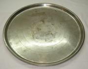 Поднос «круглый», никелировка, «Кольчугино» №2289
