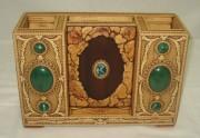Органайзер из бересты, украшен натуральными камнями, ручная работа №2238