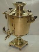 Самовар старинный «бокал», томпак, на 2,5 литра, «Иван Пушков» 19 век №682