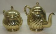 Заварочный чайник с сахарницей, латунь, Германия 19-20 век №2375