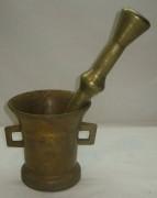 Ступа старинная, ступка с пестиком, бронза, 19 век №2382