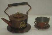 Чайник с сахарницей, медь, Европа 20 век №2384