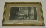 Фотография в рамке, старинная, с самоваром №2417