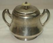 Сахарница старинная, серебрение, модерн, «Norblin» 19 век №2458