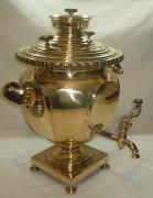 Самовар старинный угольный «чаша», томпак, «Маликов» 19 век №710