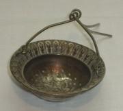 Ситечко старинное, серебрение, «Br. Buch» Варшава 19 век №2492