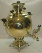 Самовар угольный «шар» на 4,5 литра, «Бр. Шемариных» №719