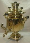 Самовар угольный «фонарь», на 5 литров, «В.С. Баташев» 19 век №729