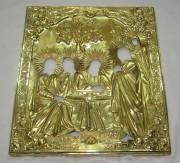 Оклад старинный от иконы «Троица», серебро 84 пробы, позолота, Россия 1868 год №2168