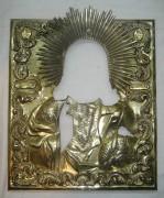 Оклад старинный от иконы «Господь Вседержитель», серебро 84 пробы, Россия 1848 год №2169