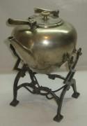 Бульотка старинная, на 2 литра, серебрение, «А. Кач» 19 век №2716