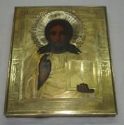 Икона старинная «Господь Вседержитель», позолота, Россия 19 век №2723