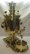 Самовар угольный «банка», с медалями, на 10 литров, «В.С. Баташев» №751
