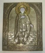 Оклад от иконы «Александр Невский», серебрение, 19 век №2138
