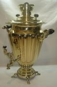 Самовар старинный угольный «рюмка», на 6,5 литров, «Бр. Шемариных» 19 век №754